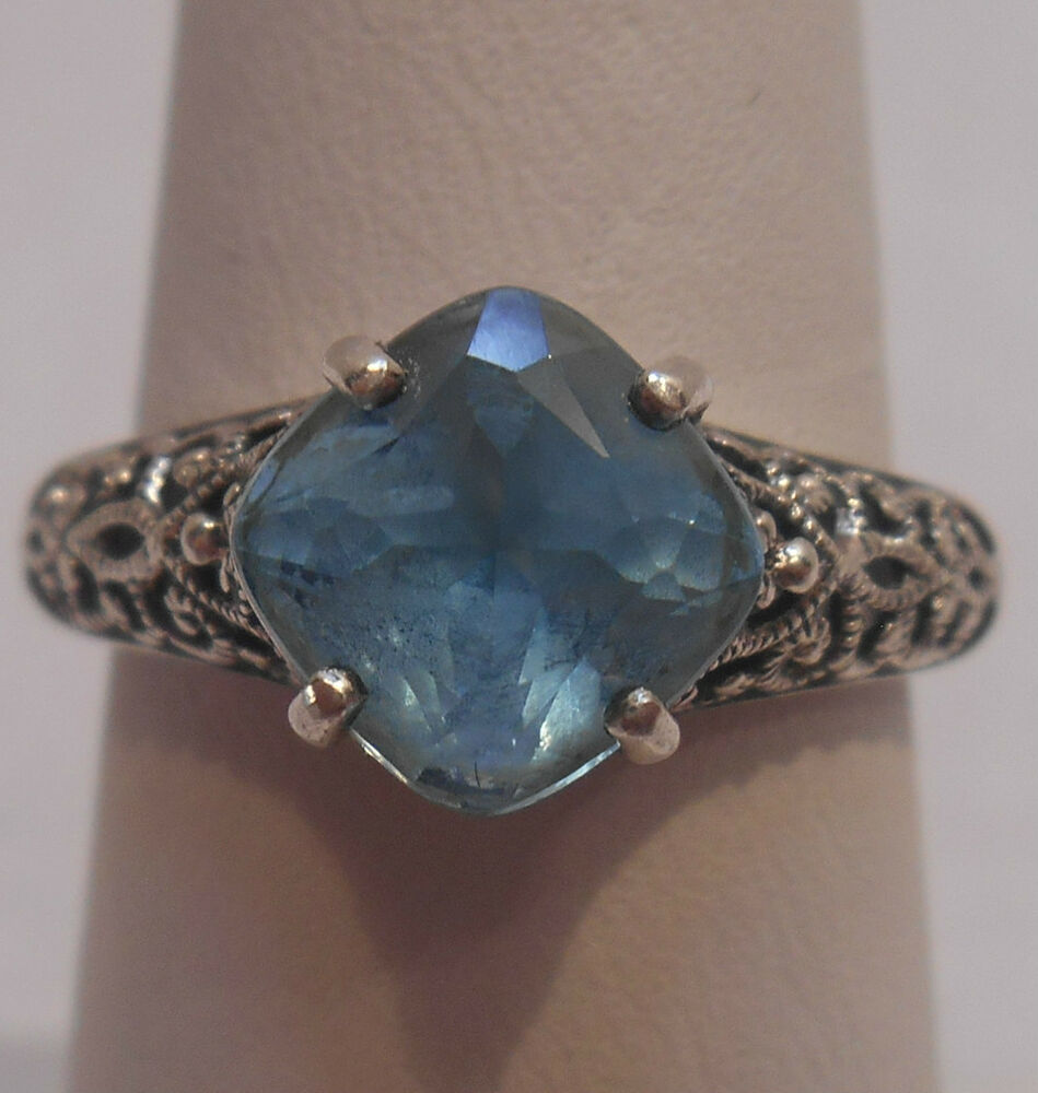 Sterling Silver Rings With Blue Topaz