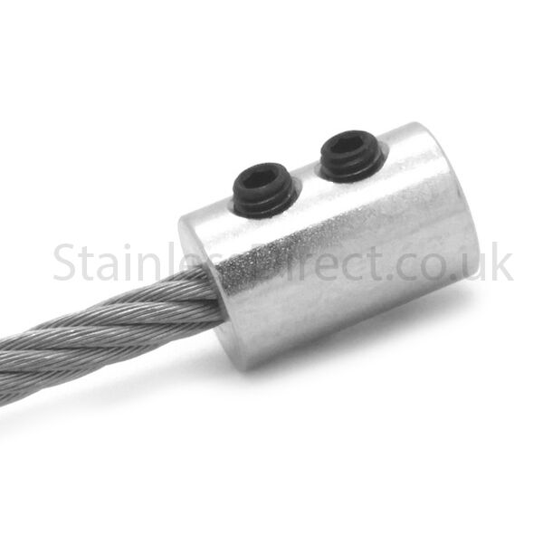 Zinc Plated Wire Rope End Stop To Suit 4mm 5mm Or 6mm Wire