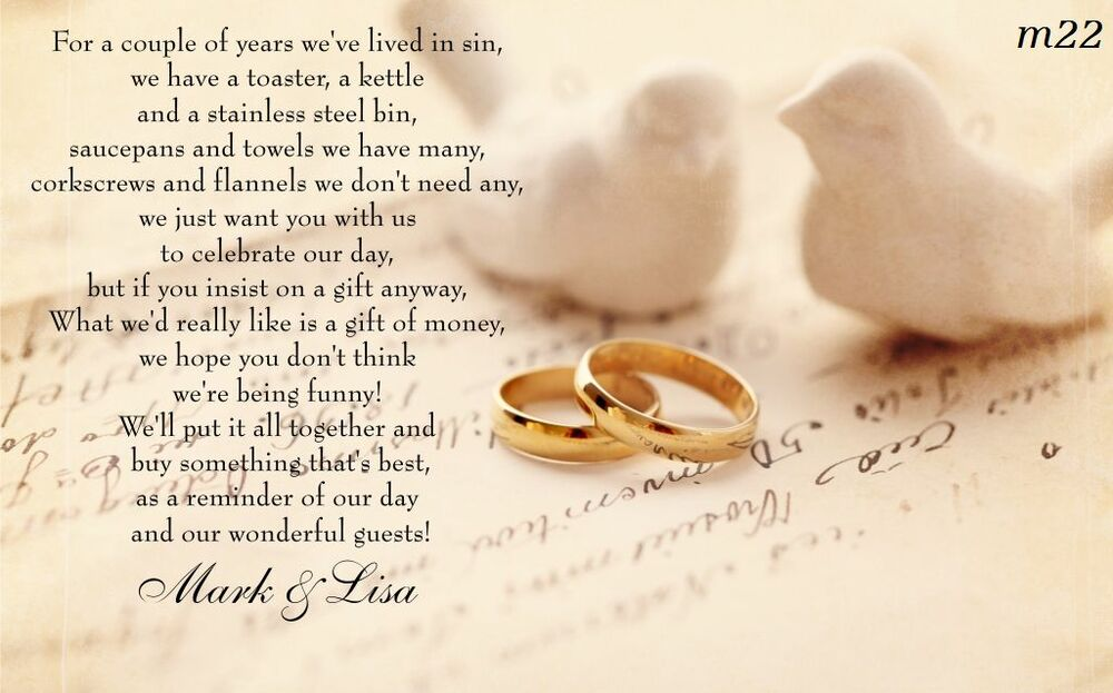 ... Wedding Poem Cards, Money Cash Gift, Ask For Money, Invitation Inserts