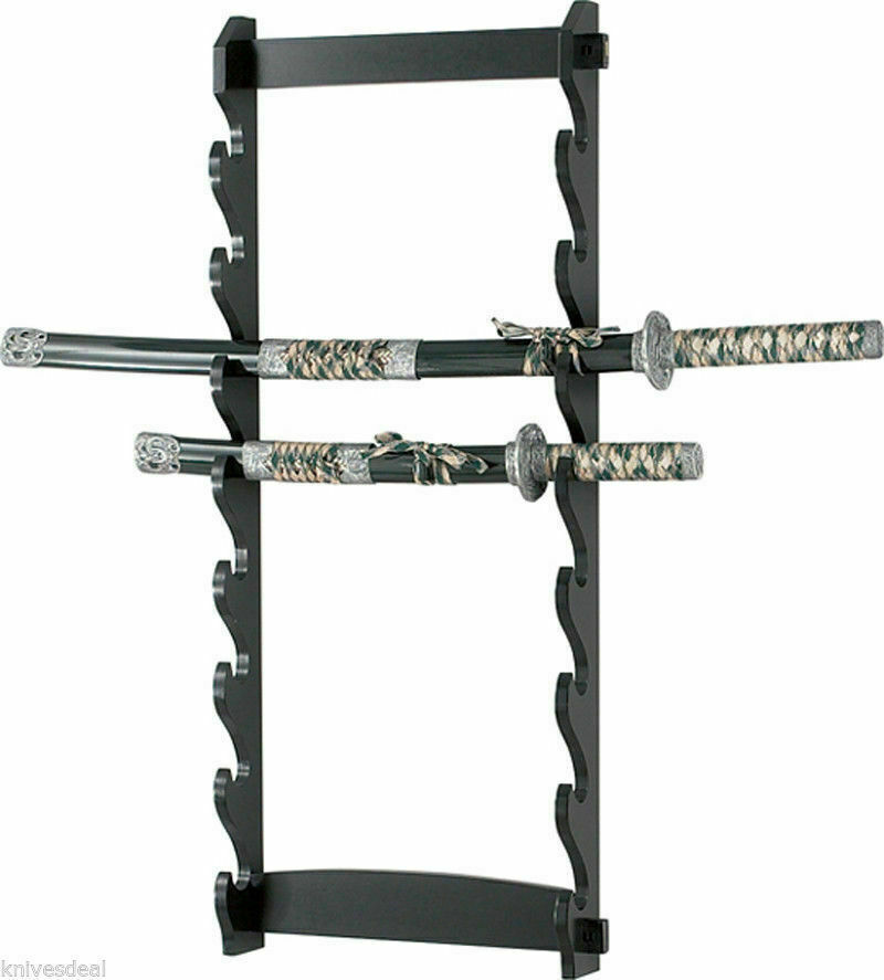 8 Tier Sword Wall Display Stand Rack Only Ebay