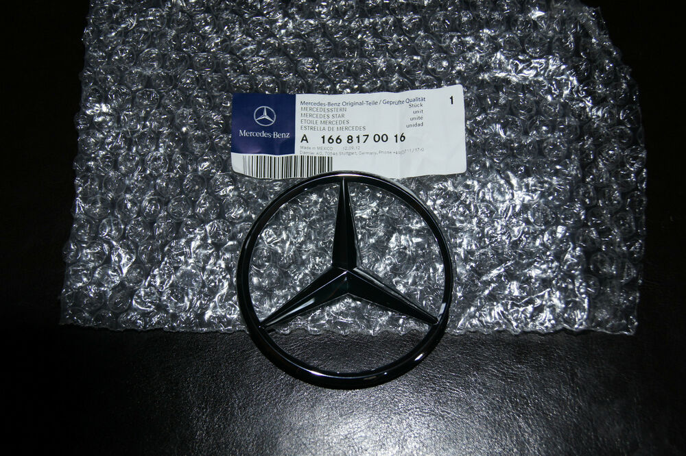 Mercedes benz trunk rear door star emblem badge ml350 for Mercedes benz trunk emblem