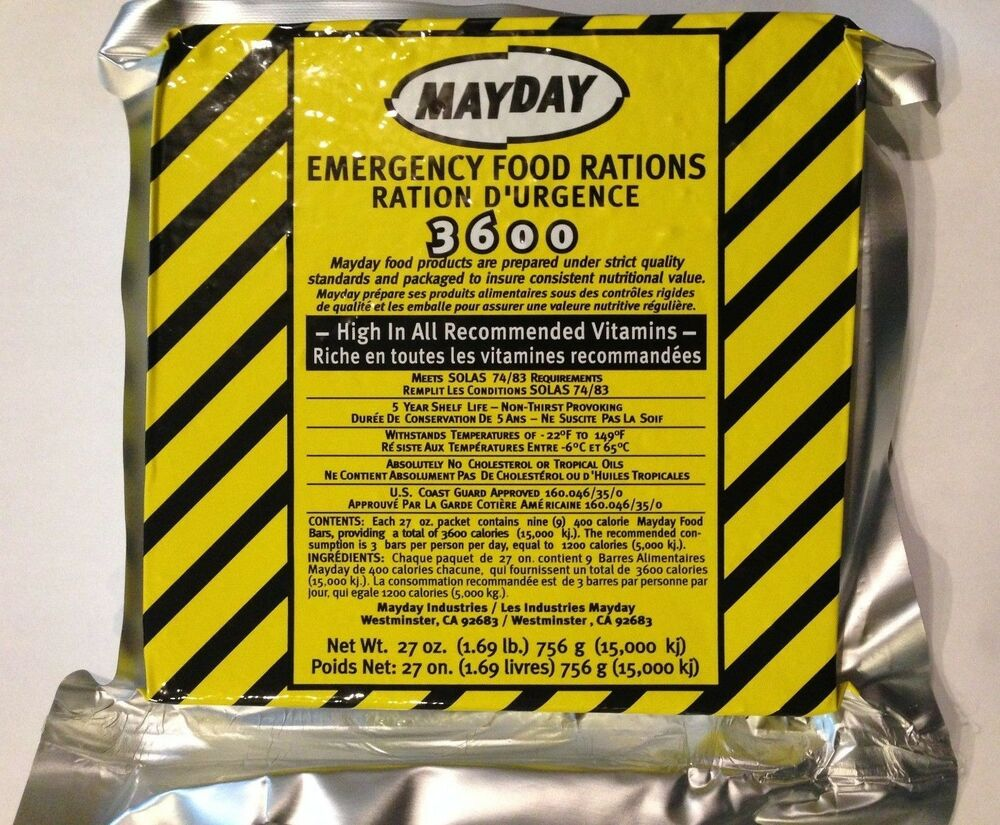 3600 calorie mayday survival food bar emergency rations for Mayday food bar 3600 calories