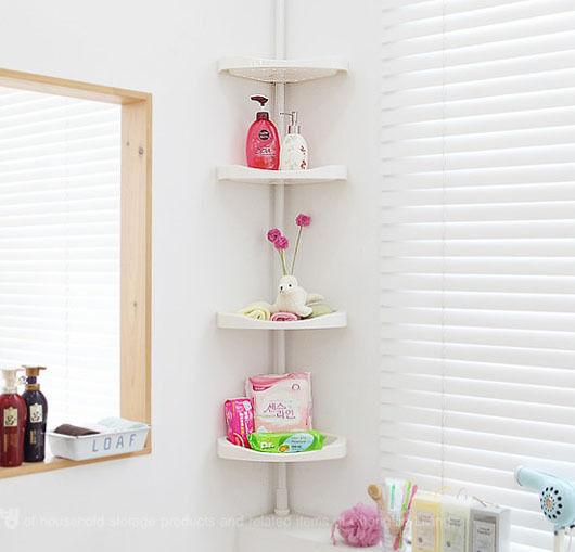 rack corner shelf unit basket wall slim mount bath storage k ebay