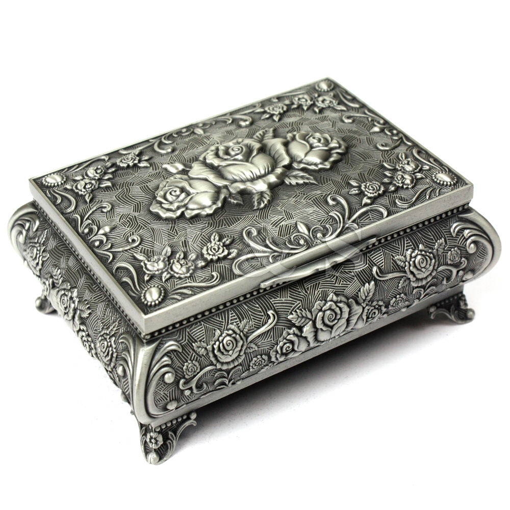 Simply Vintage antique metal jewelry boxes opinion you