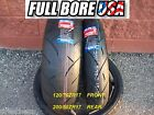 TWO TIRE SET 120/70ZR17 & 200/50ZR17 FULL BORE USA SPORT BIKE MOTORCYCLE TIRES