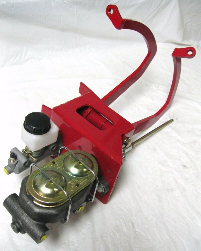 Street Rod Brake Diagram : Universal red manual clutch pedal assembly master cylinder