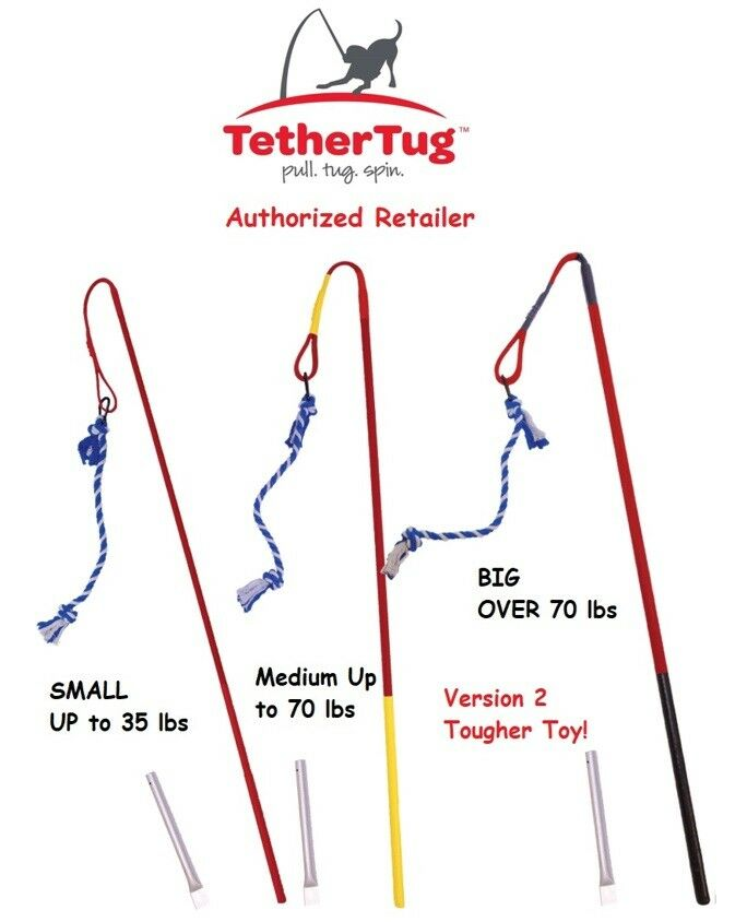 tether tug outdoor dog toy interactive backyard tugging