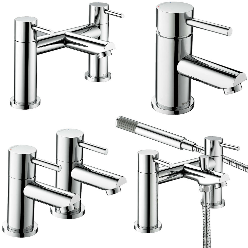 Bristan blitz taps basin mixer bath shower filler chrome for Bathroom taps
