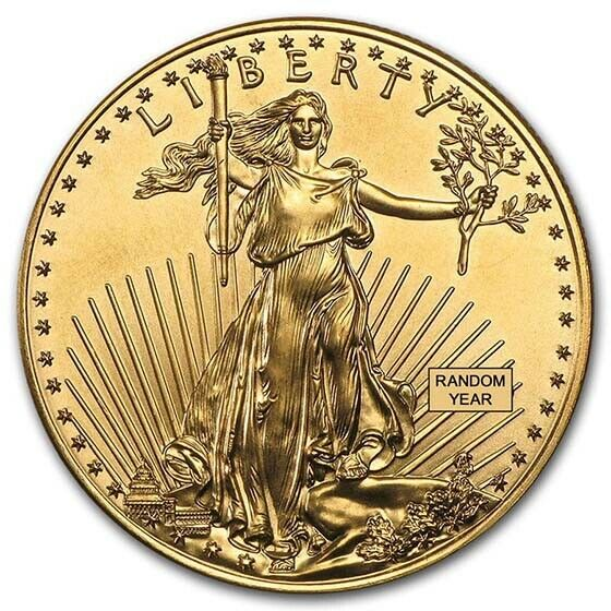 Special Price 1 Oz Gold American Eagle Coin Random Year