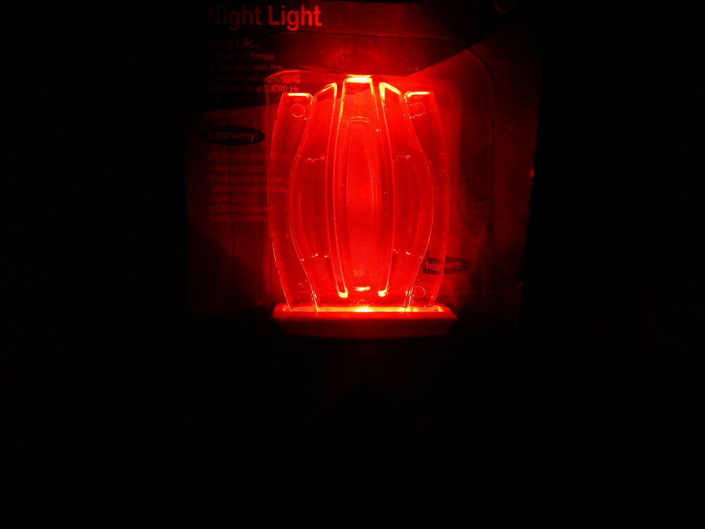 Red Snowflake Shape Led Energy Night Light Wall Plug In