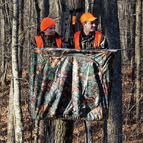 New rivers edge camo curtain for twoplex hunting ladder