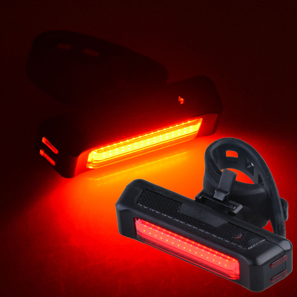 Cob Led Bicycle Bike Cycling Front Rear Tail Light Usb