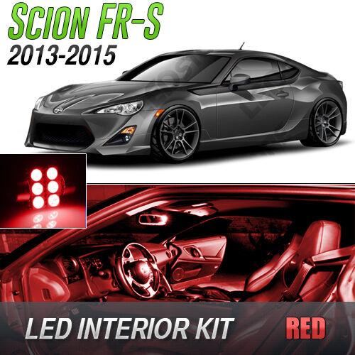 2013 2015 scion fr s red led lights interior kit frs ebay for Scion frs interior accessories