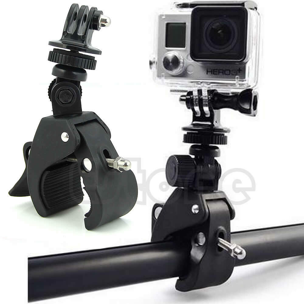 handlebar clamp roll bar mount tripod adapter for gopro. Black Bedroom Furniture Sets. Home Design Ideas