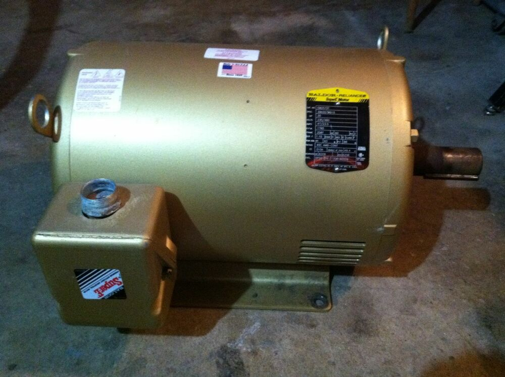 Baldor 20 Horsepower Electric Motor 3 Phase Ebay