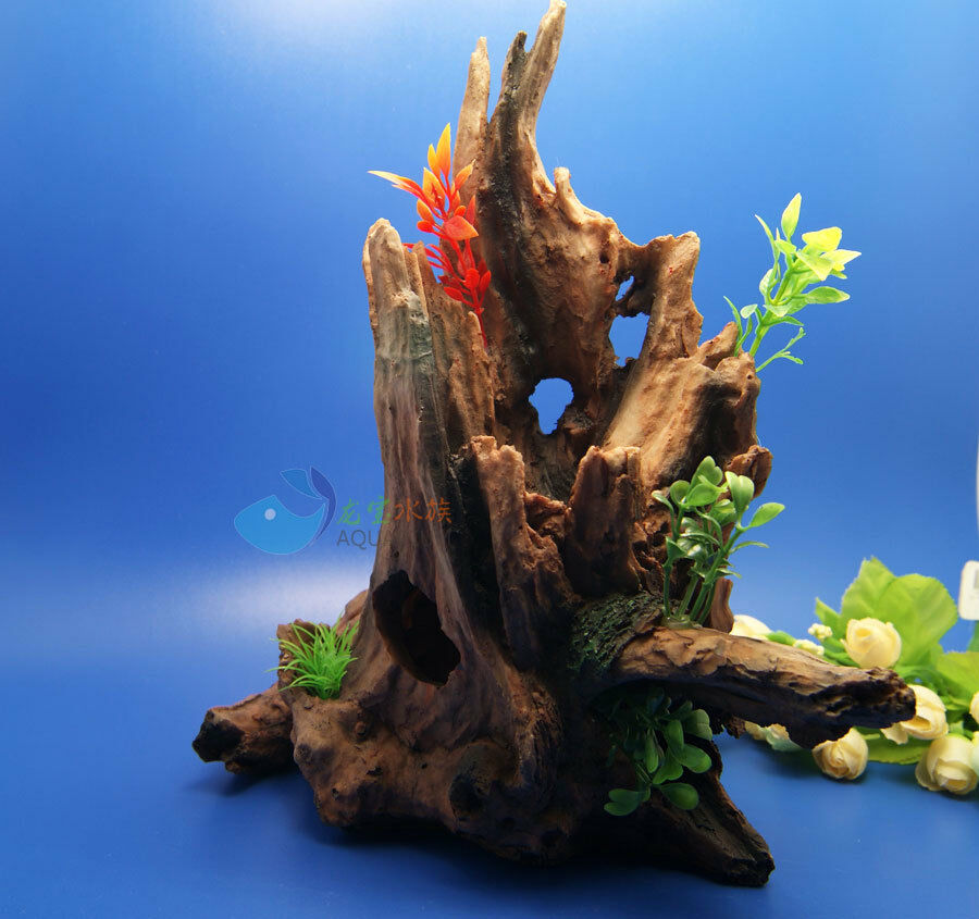 Aquarium decoration trunk hole driftwood for fish tank for Aquarium wood decoration