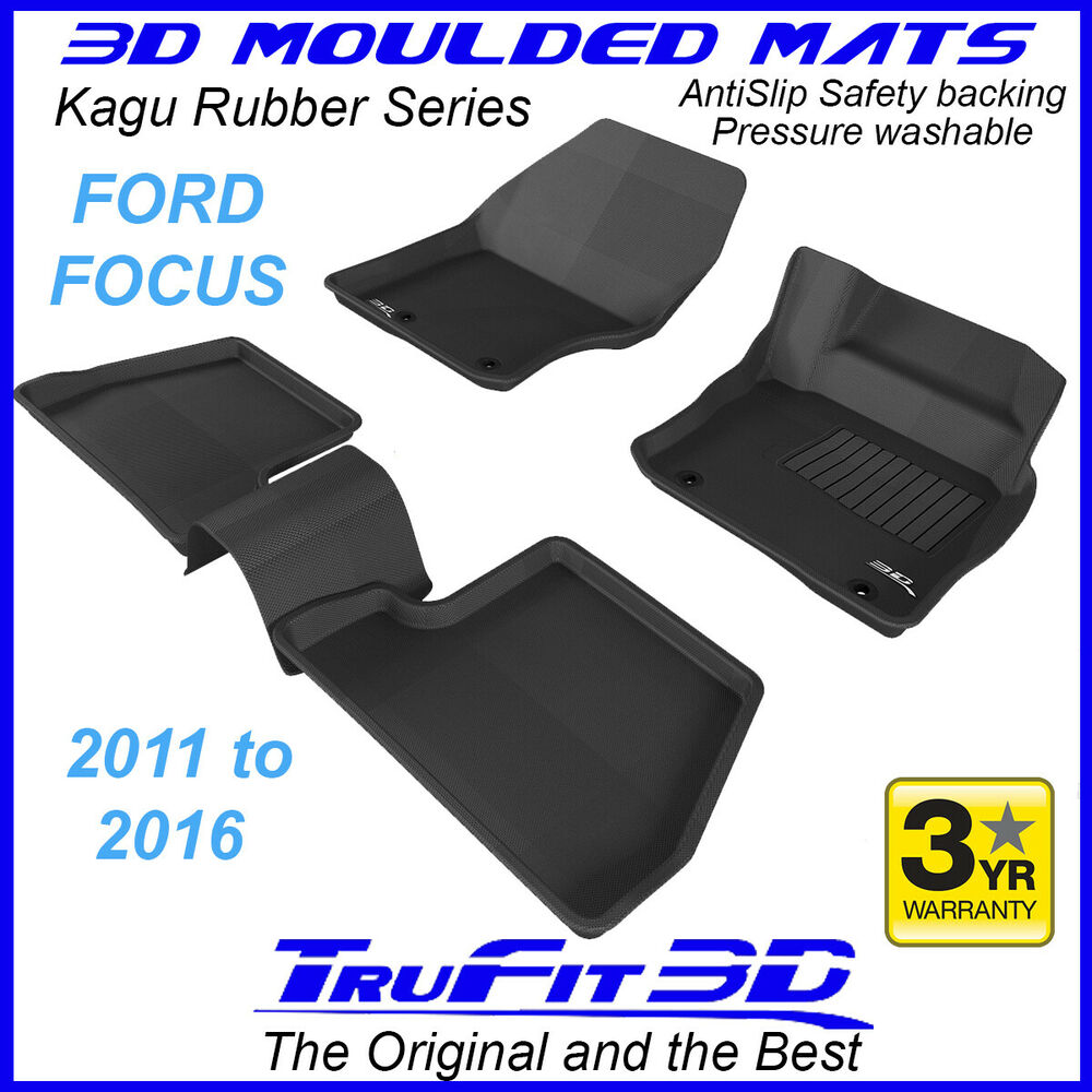 Ford Focus 2011 To 2016 Rubber 3D Floor Mats