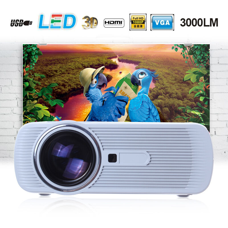 Cl720 3000 Lumens Hd Home Theater Multimedia Lcd Projector: 3000 Lumens HD Home Cinema Theater Multimedia LED/LCD