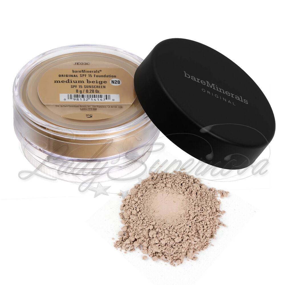 BAREMINERALS Bare Escentuals ORIGINAL SPF 15 Foundation MEDIUM BEIGE N20 XL 8gm  | eBay