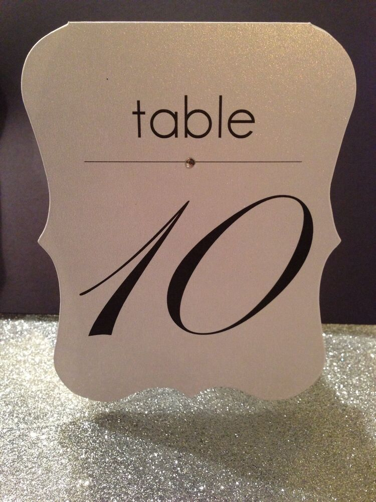 Wedding Table Numbers Cards with Bling Crystal | eBay