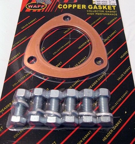 2 1 2 Quot High Performance Copper Exhaust Header Collector Gasket W Bolts Ebay