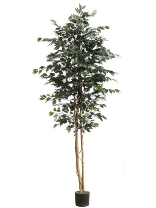 8 39 6 ficus silk tree w pot 1 512 leaves case of 2 for Artificial trees for home decoration
