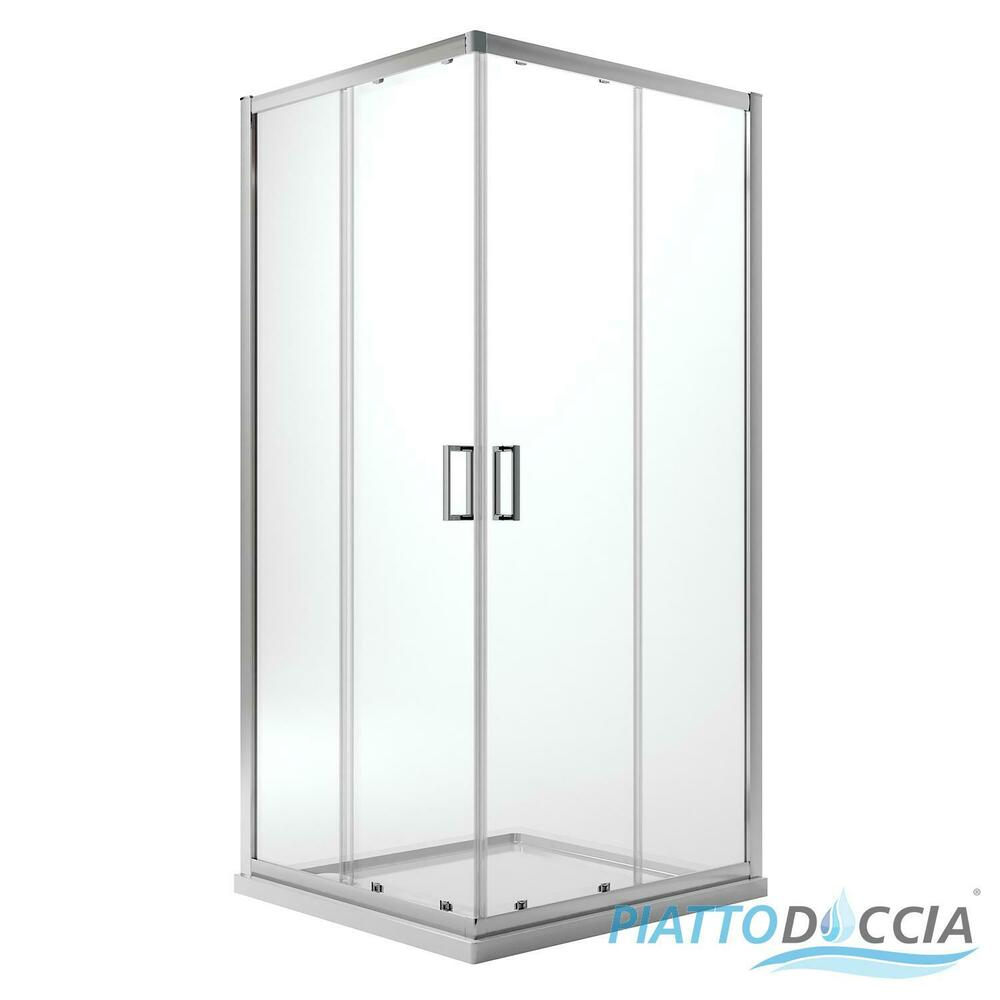 Shower Enclosure Cubicle 750x750 Mm H1850 Clear Glass