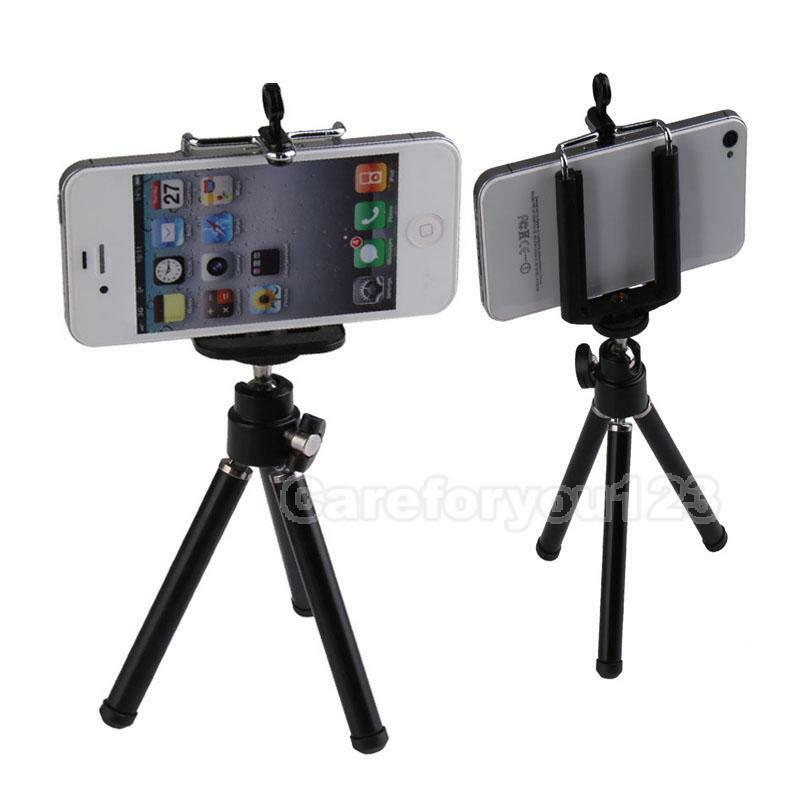 iphone camera holder universal tripod stand mount holder for iphone cell phone 8288