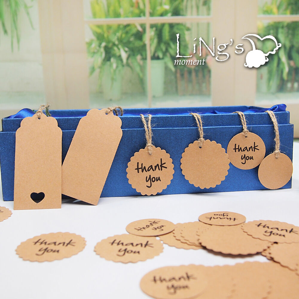 Wedding Favor Hanging Gift Tags : Thank You Kraft Paper Hang Tags Wedding Favor Gift Cards Luggage Label ...