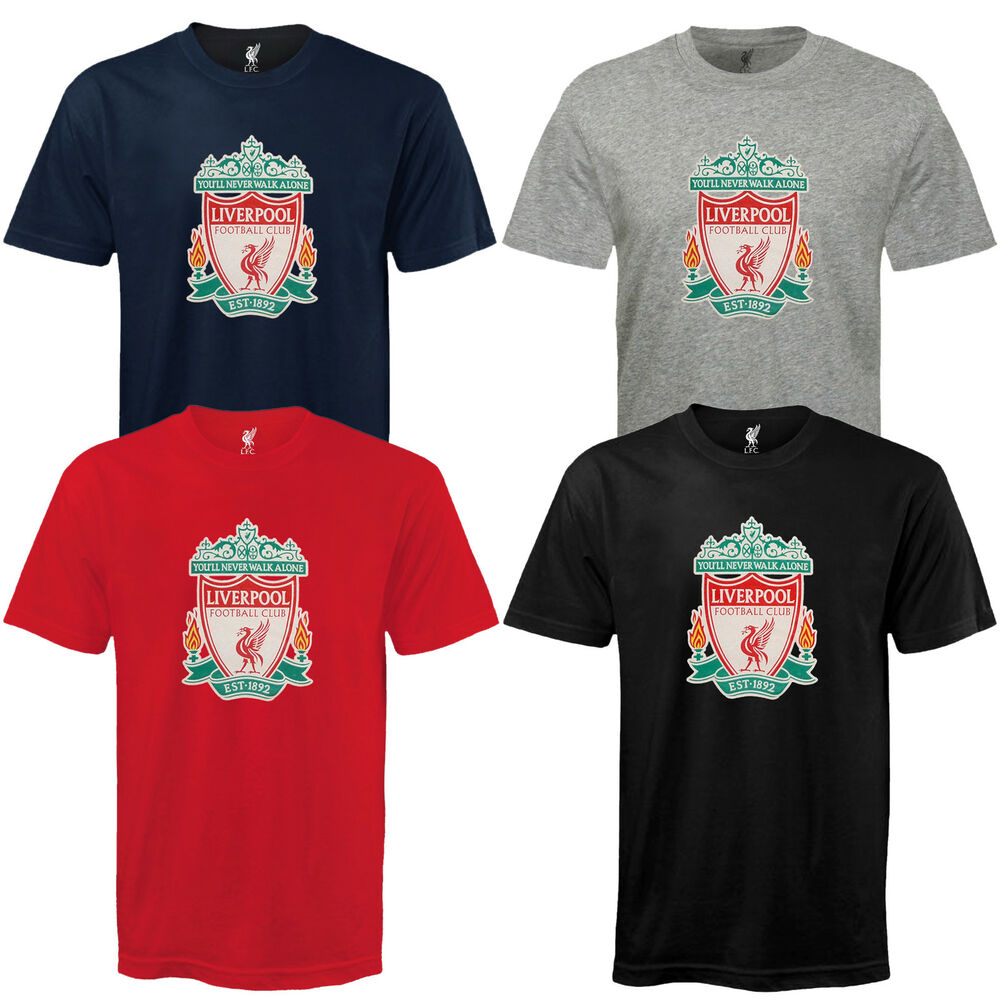 Official Mens Club Liverpool Gift  Football Soccer Crest T