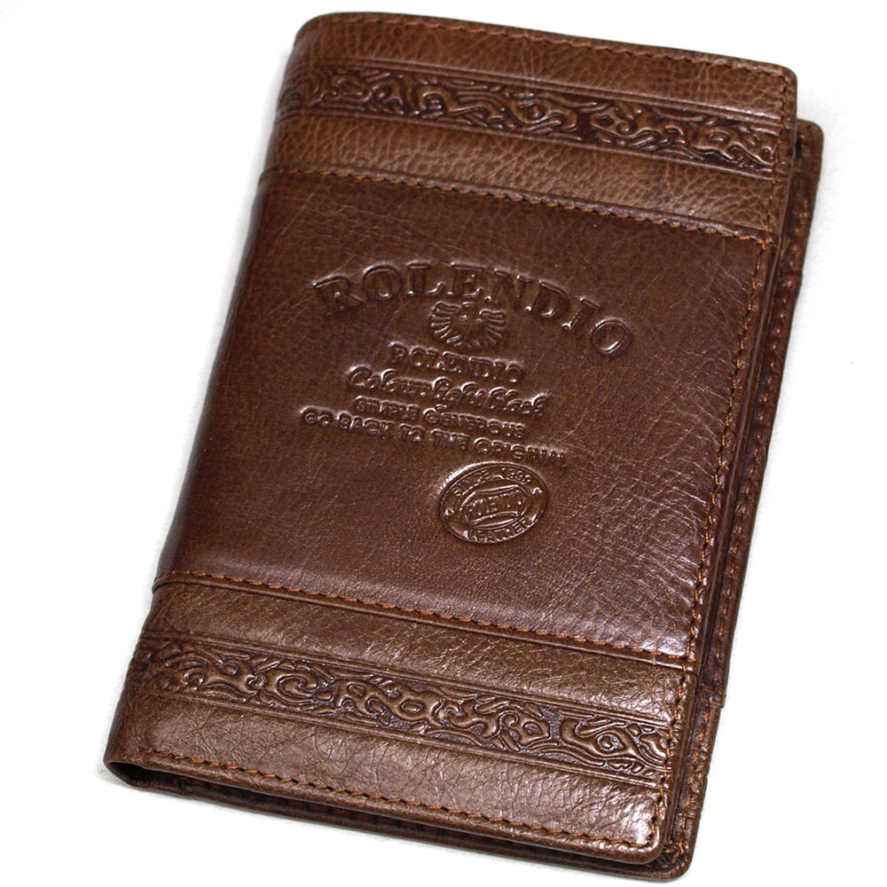 New Mens Leather Wallet Travel Zipper Pocket Trifold Purse ...