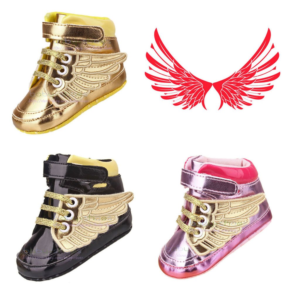 Infant Toddler Baby Boy Girl Wing Crib Shoes Sneakers Size ...