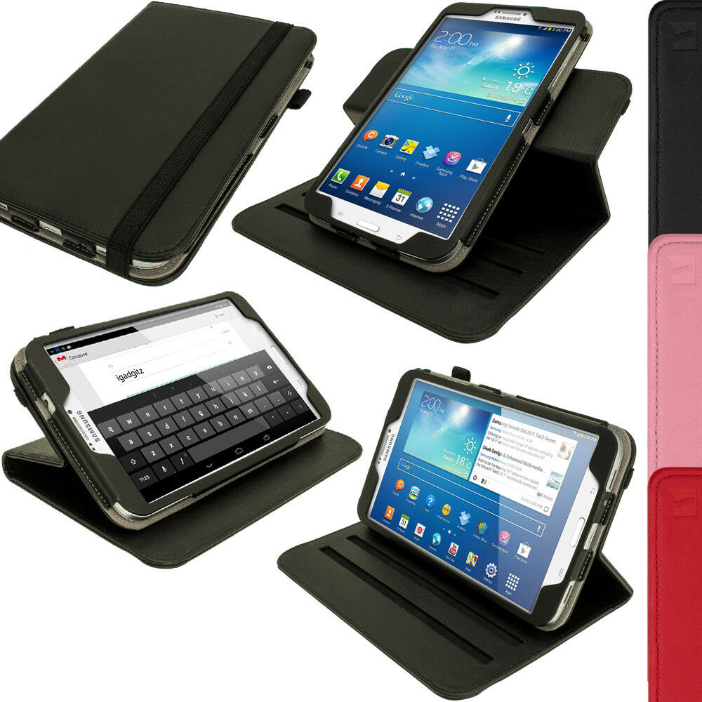 pu leather stand flip case cover for samsung galaxy tab 3. Black Bedroom Furniture Sets. Home Design Ideas