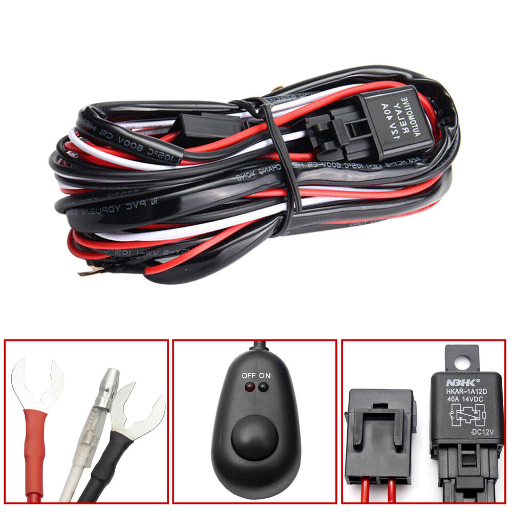 Fog Light Harness Kit Free Wiring Diagram For You Scion Iq Trailer Universal Relay Wire Led On Off Switch Santa Fe Sport