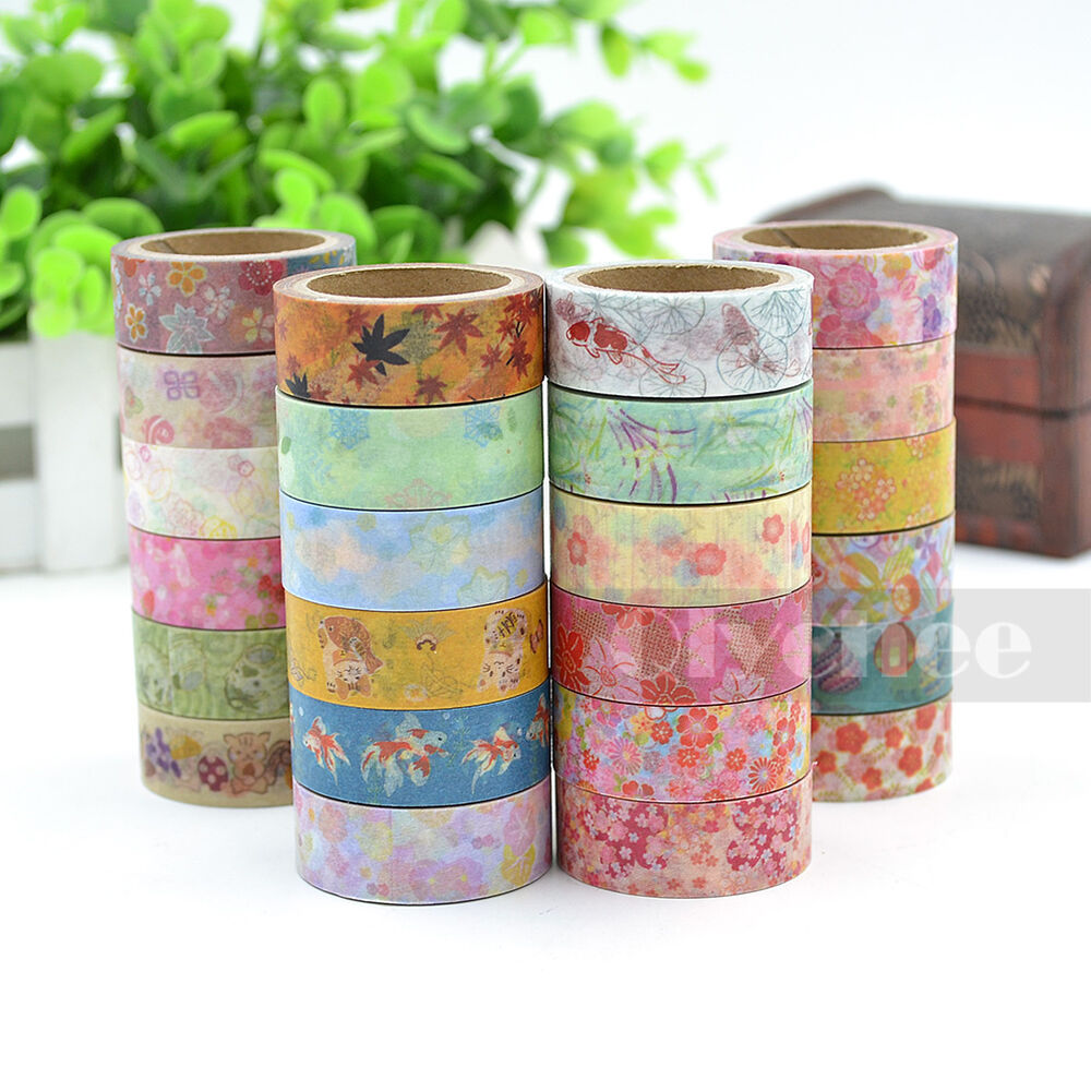 1 pc cute pattern washi tape diy decor sticky stationery for Adhesive decoration