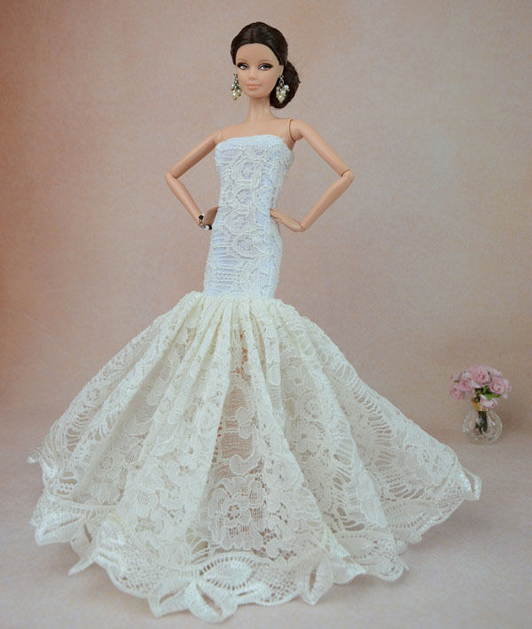 ... Dress Party Dress/Wedding Clothes/Gown For Barbie Doll F04 | eBay
