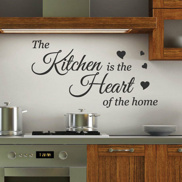 Quotes For The Kitchen: Kitchen Is The Heart Wall Quotes Stickers Wall Decals Wall
