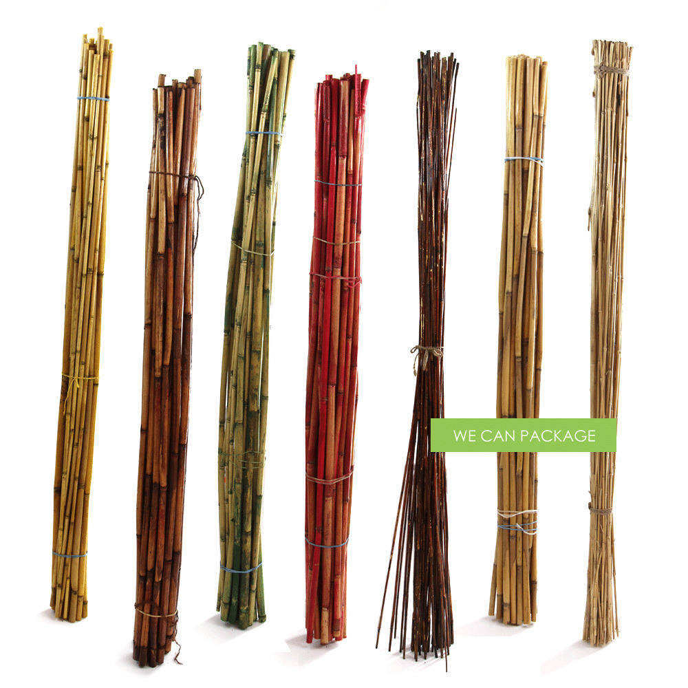 New bamboo poles river cane sticks fencing decor craft for Decoration sticks