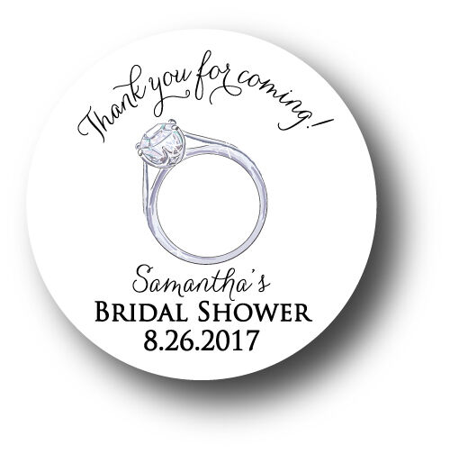 Thank you for coming! Personalized Bridal Shower Stickers ...