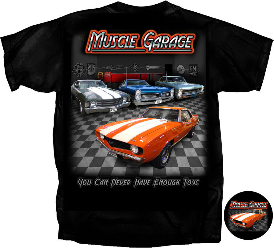 muscle garage t shirt camaro gto gm tee t shirt american. Black Bedroom Furniture Sets. Home Design Ideas