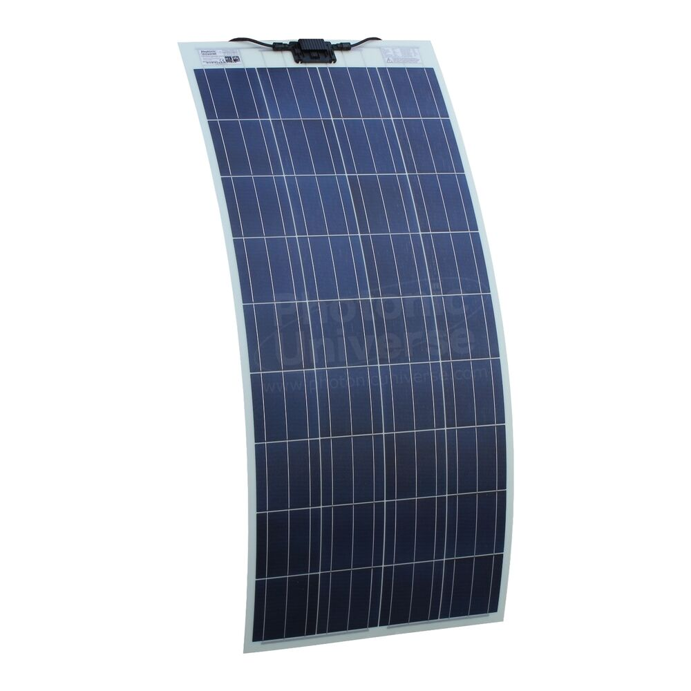 150W Semi-flexible Solar Panel for Campervan, Motorhome, Caravan, Boat ...