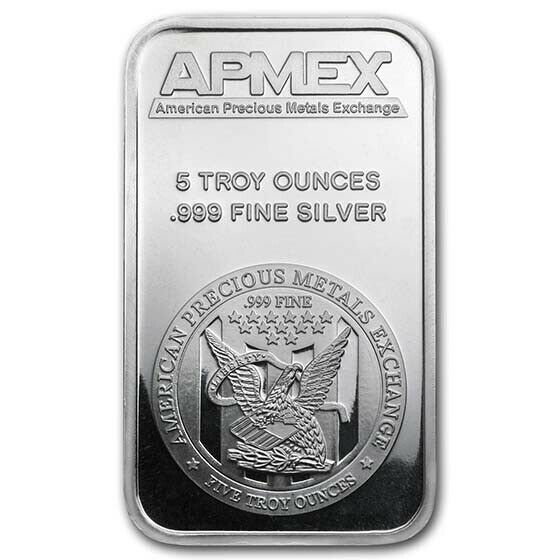 5 Oz Apmex Silver Bar Sku 40249 Ebay