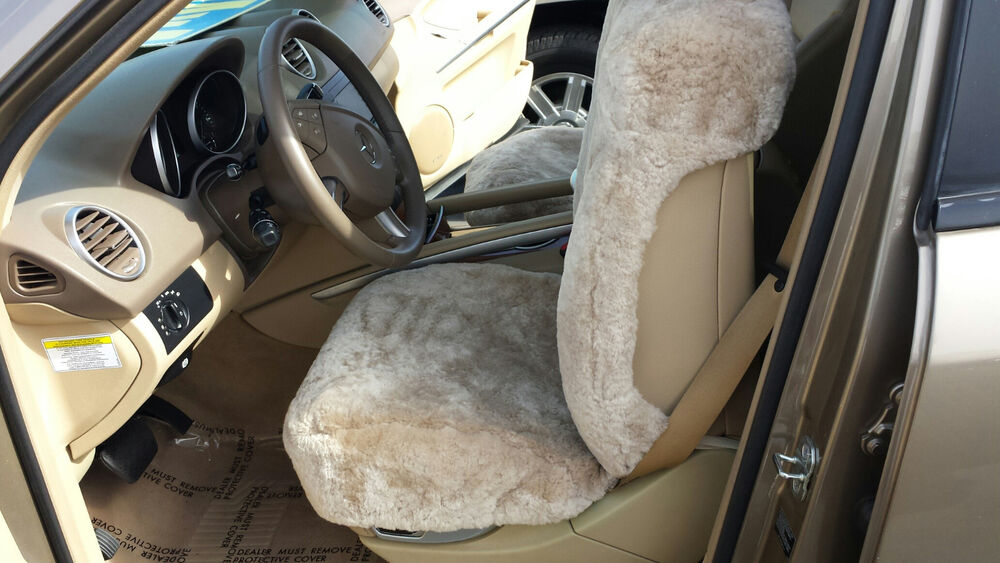 1sheepskin seat cover christmas gift friend mercedes bmw for Mercedes benz original seat covers