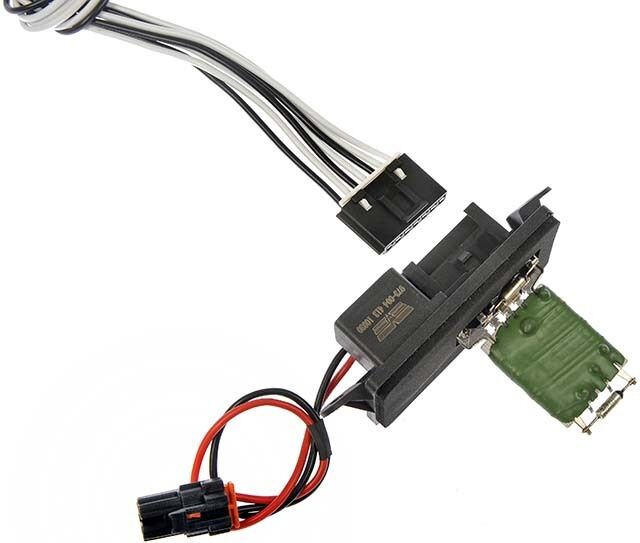 gm heater blower motor resister with wiring harness dorman