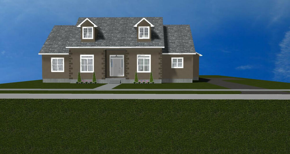 Beautiful 2 story cape cod basement house plans 2740 s q for Cape cod house plans with basement