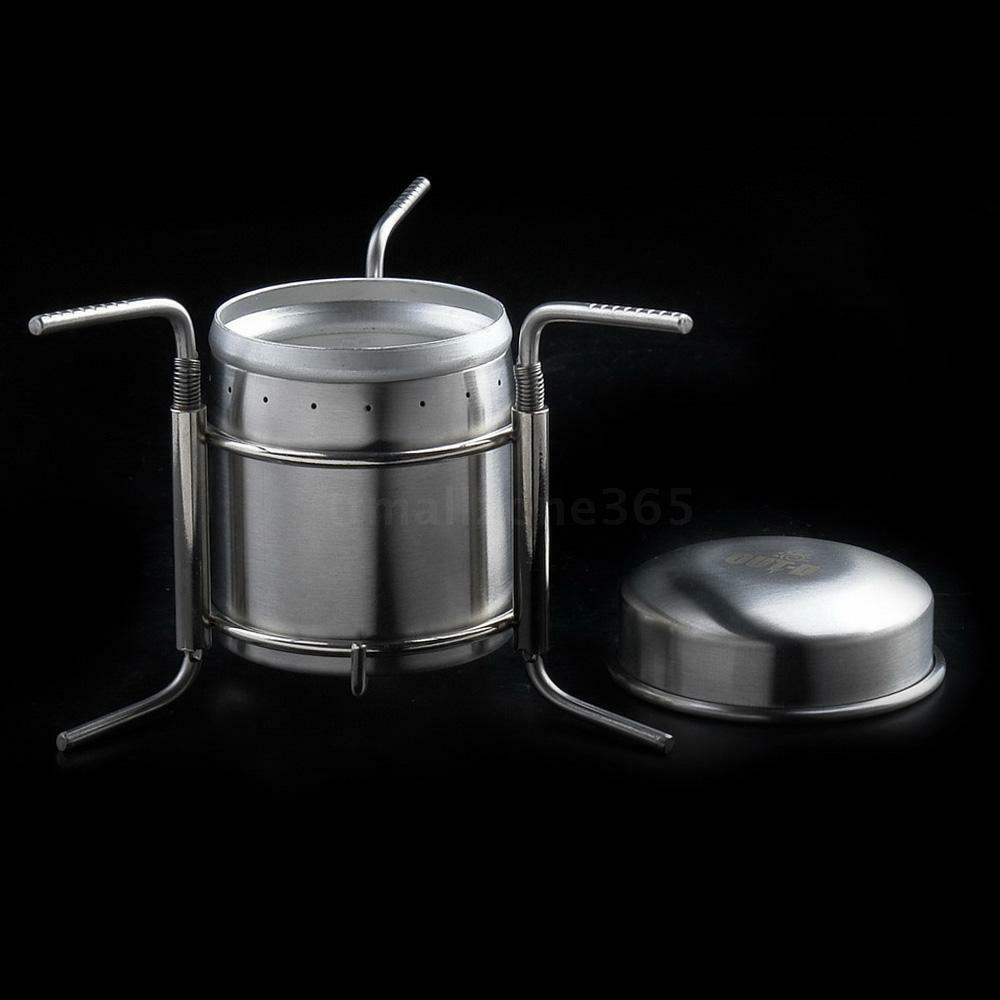 Mini Stove: Stainless Steel Portable Mini Spirit Burner Alcohol Stove