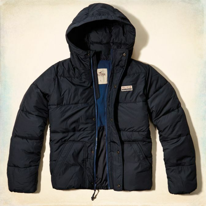 nwt hollister by abercrombie mens leucadia puffer jacket