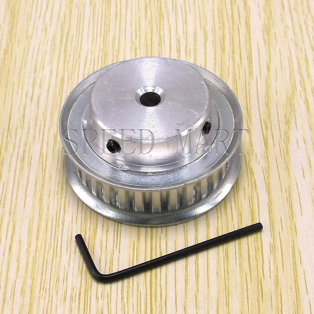 Xl Pulleys And Belts : Xl type t aluminum timing belt pulley teeth mm