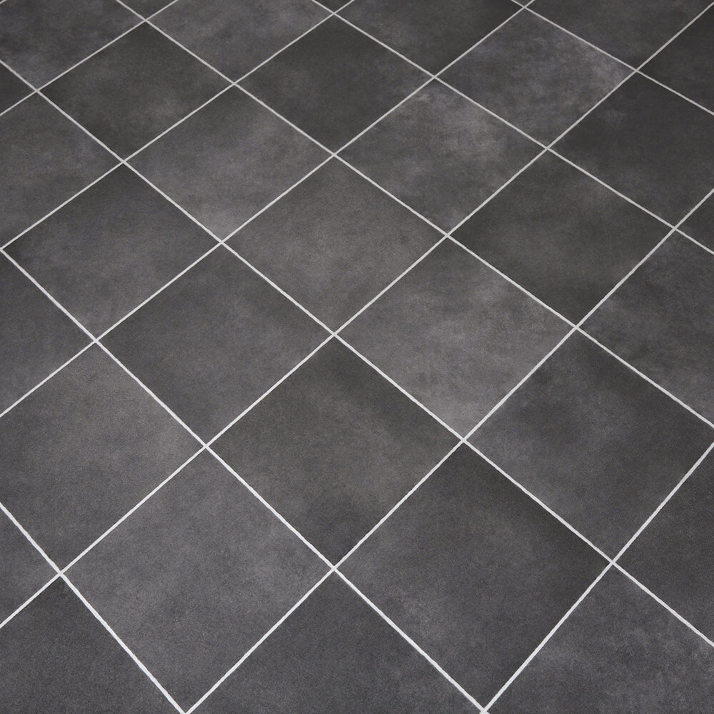 Grey Kitchen Lino: Non Slip Vinyl Flooring Lino