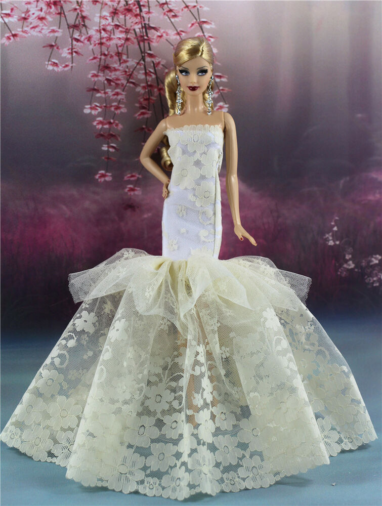 Royalty Mermaid Dress Party Dress Wedding Clothes Gown For